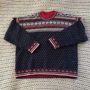Lands' End Nordic Sweater Size L